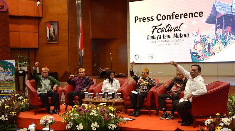 Festival Budaya Isen Mulang 2018 Targetkan 500 Wisman dan 20 Ribu Wisnus