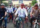 Kapolri, Wagub DKI dan Menteri Meriahkan Funbike Sepeda Nusantara 2018