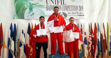 Kontingen Garuda Juara Umum UNIFIL Badminton Tournament 2019 di Lebanon