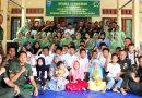 Kebersamaan Pendam XII/Tpr Bersama Anak Yatim dan Awak Media