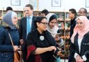 Menlu Retno Kunjungi Kamp Pengungsi Palestina di Amman Jordan