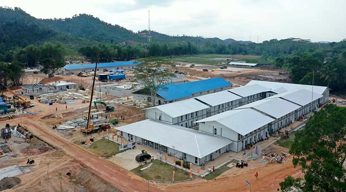 Pembangunan Fasilitas Pengendalian Infeksi Penyakit Menular di Pulau Galang Capai 92 Persen
