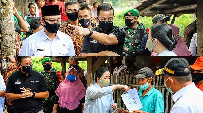 Ketua DPR RI, Menko PMK dan Mensos Tinjau Langsung Penyaluran Dana Bansos di Banten