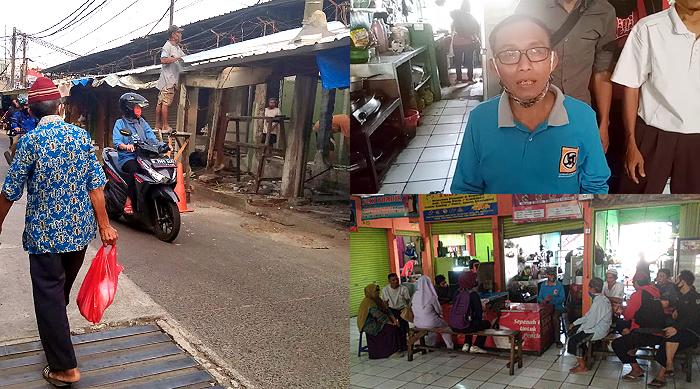 Lapak Dibongkar Paksa OTK, Pedagang Pasar Pal Tugu Cimanggis Resah