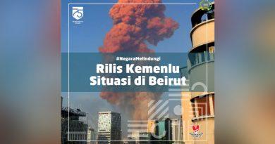 Ledakan di Beirut, Pemerintah Indonesia Sampaikan Duka Cita dan Simpati