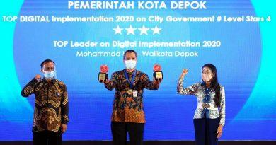 Kota Depok Berhasil Boyong 2 Penghargaan TOP DIGITAL Awards 2020