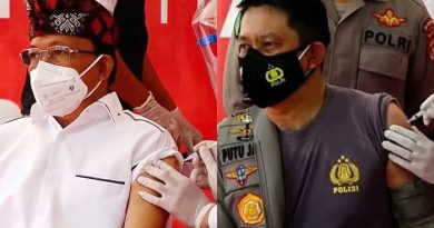 Gubernur dan Kapolda Bali Terima Suntikan Vaksin Covid-19
