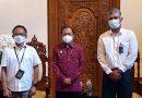 Pisah Kenal GM PLN Unit Induk Distribusi Bali dengan Gubernur Wayan Koster