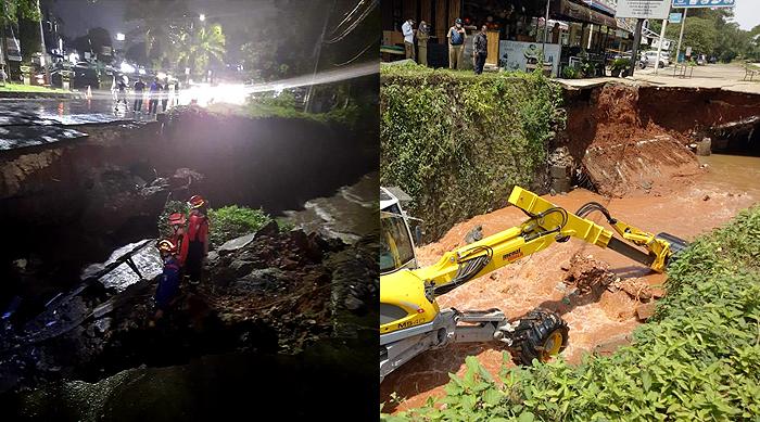 Jalan di Kawasan GDC Amblas, Petugas Berlakukan Contraflow